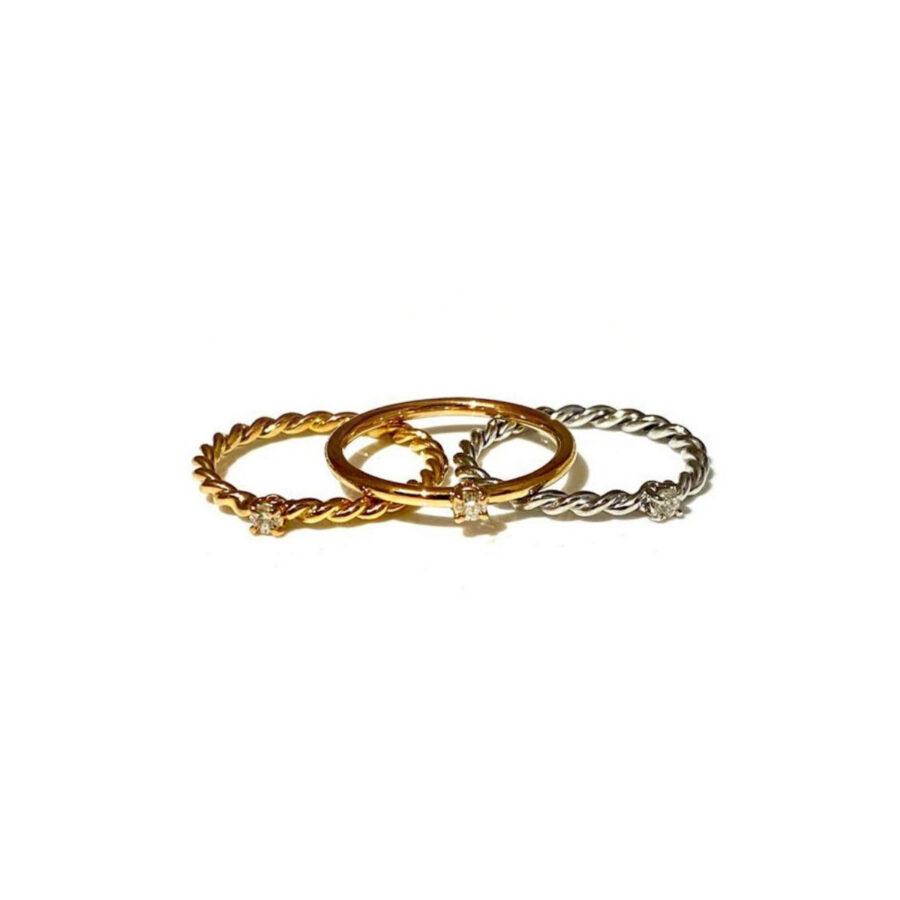 anello intrecciato pietra
